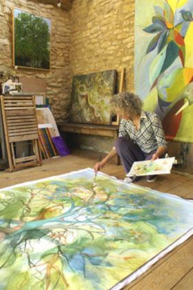 Lakita dans son atelier